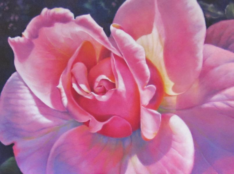 oil painting pink flower - photo #24