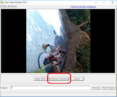 Rotasi Video Searah Jarum Jam -  Free Video Rotator v3.0