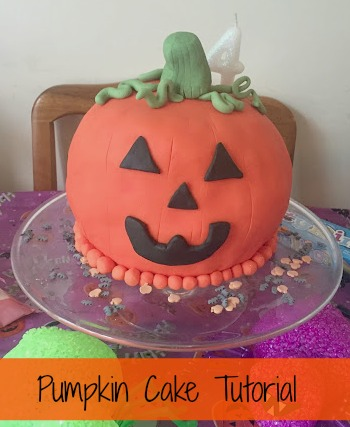 pumpkin cake tutorial