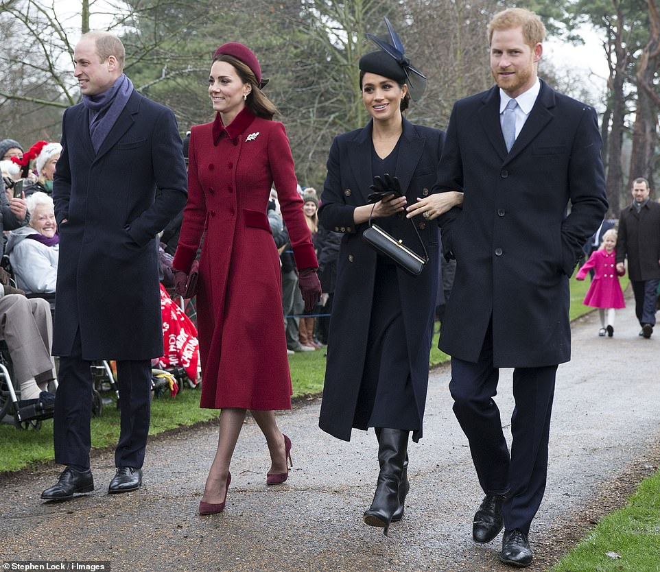 The Royal Family have arrived at church on the Queen's Sandringham estate for the traditional Christmas Day service