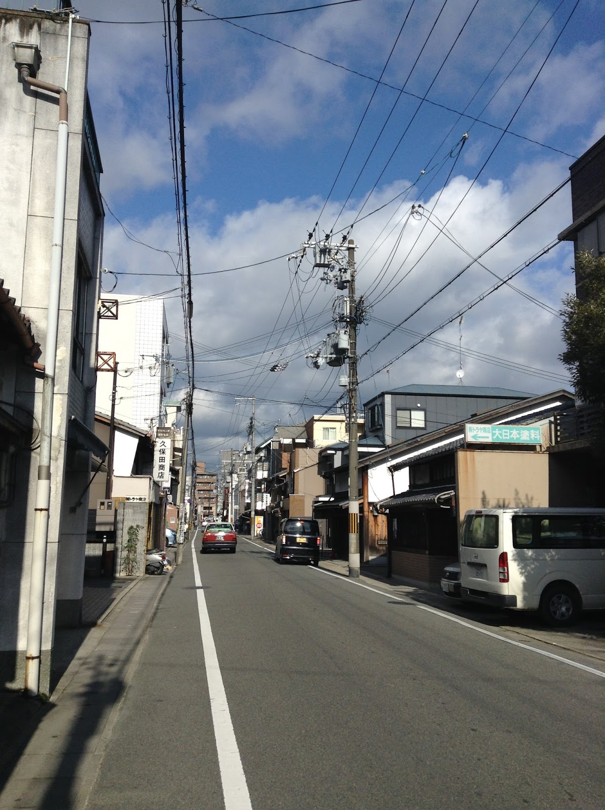 Japanese street, Kyoto suburbs