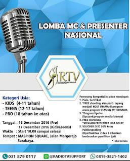 Lomba MC dan Presenter Tingkat Nasional 2016