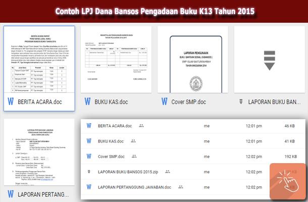 Contoh LPJ Dana Bansos Pengadaan Buku K13 Tahun 2015