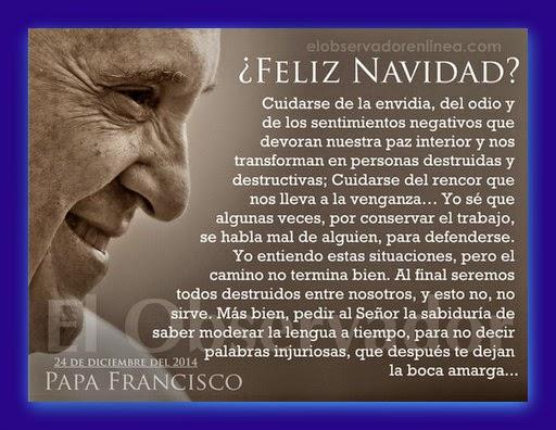Frases Del Papa Francisco De La Navidad.Amor Eterno Exhortacion De Navidad Para Todos Nosotros Por