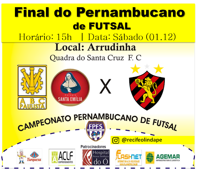 ABC Paulista e Sport na Final do Pernambucano de Futsal 2018