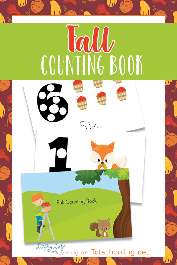 FREE printable Fall themed counting book for preschoolers to practice numbers, number words, tracing and fine motor skills. Fun Fall math activity for preschool.