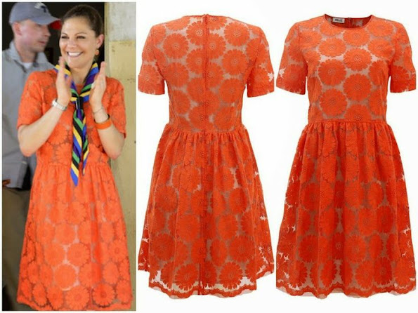 Crown Princess Victoria of Sweden wears Baum und Pferdgarten Lace Dress
