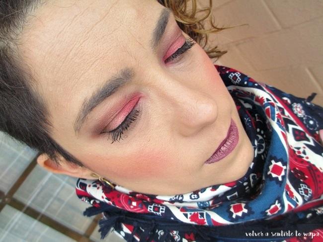 MAQUILLAJE | Ojos en rosa mate y labios metálicos