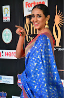 Priya Shree in Beautiful Blue Saree at IIFA Utsavam Awards 2017  Day 2    HD Exclusive Pics 03.JPG