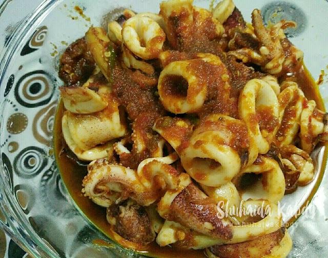 resepi sotong masak kicap pedas