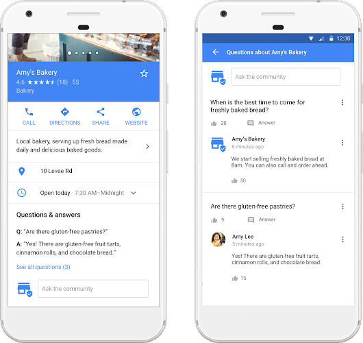 Answer customer questions on Google