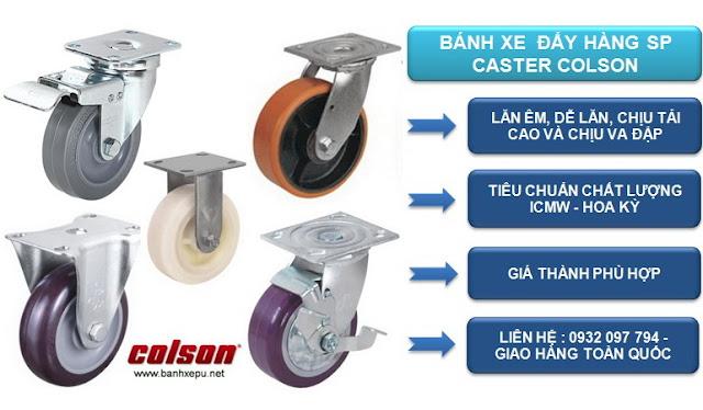 Mua bánh xe PU Colson chính hãng tại Bình Dương www.banhxepu.net