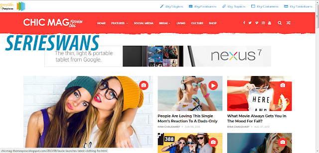 Download Template Chicmag Fashion Blogger Responsive Terbaru
