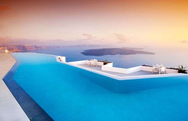 29 Most Amazing Infinity Pools in Pictures - Grace Santorini, Santorini, Greece