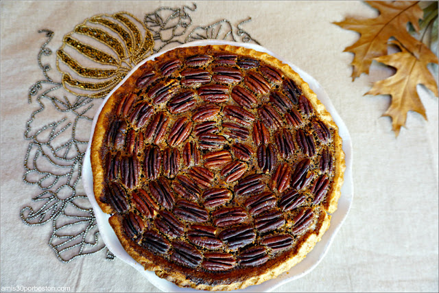 Receta de la Chocolate Bourbon Pecan Pie