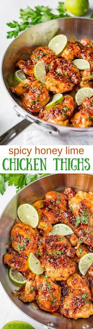 Spicy Honey Lime Chicken Thigh Recipe