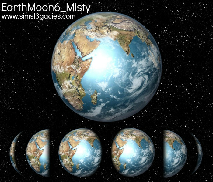 My Sims 3 Blog: Earth Moons Set 2 by Margaret Pendragon