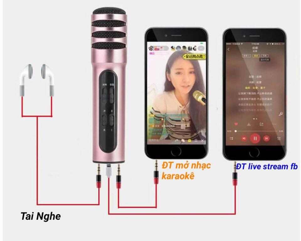 Bộ micro livestream + karaoke trên điện thoại giá sỉ và lẻ rẻ nhất
