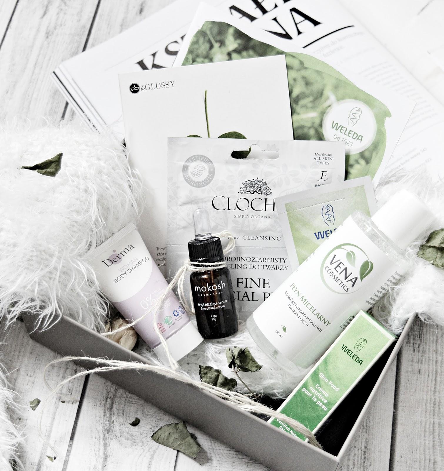 Box z kosmetykami naturalnymi. beGLOSSY ECO BOX.