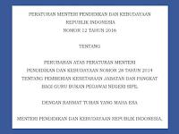 Mekanisme Terbaru Usul Inpassing 2017 Bagi Guru Bukan PNS Sesuai Permendikbud Nomor 12 Tahun 2016