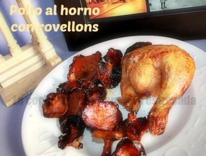 Pollo al horno al limón con rovellons