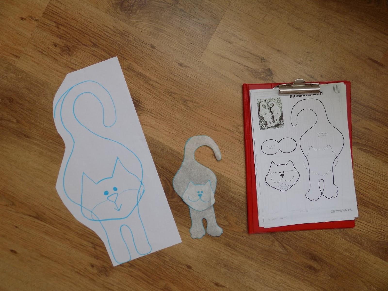 Uszyj To Rękodzieło Diy Handmade Kot Klamkowiec Na Klamkę Do