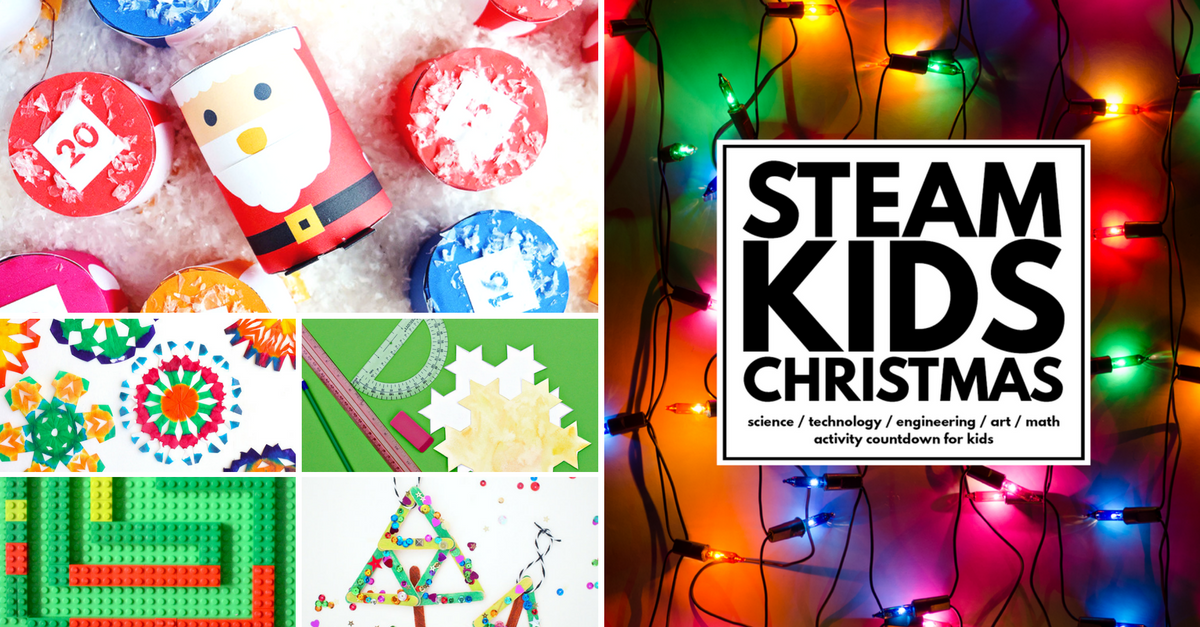 STEAM KIDS Christmas Edition - 25 holiday projects to try with your children in the lead up to Christmas | you clever monkey