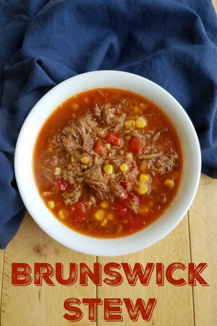 Brunswick stew is a perfect way to use leftover BBQ. We love using a mix of chicken, pulled pork and brisket but any of them are great on their own as well!
