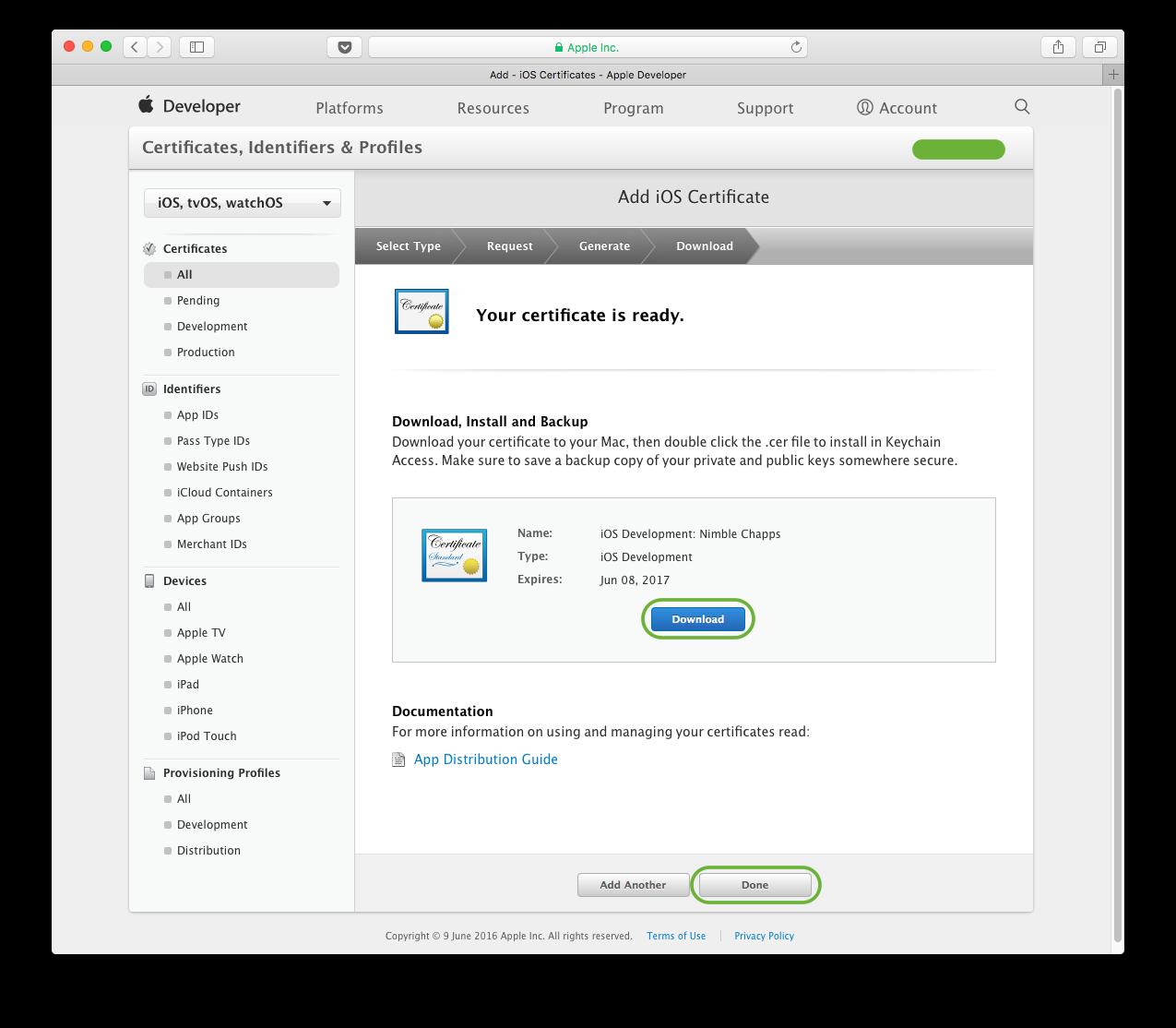 Create Developer Id Certificate Apple Iosdevcenter