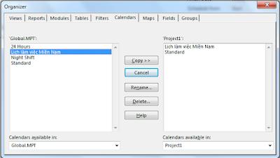 Làm thế nào để chia sẻ một lịch đã tạo trong MS Project 1