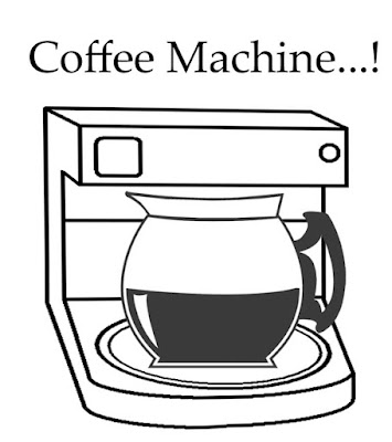 Teenagers clipart online printable filter hot black coffee machine drink production picture to color