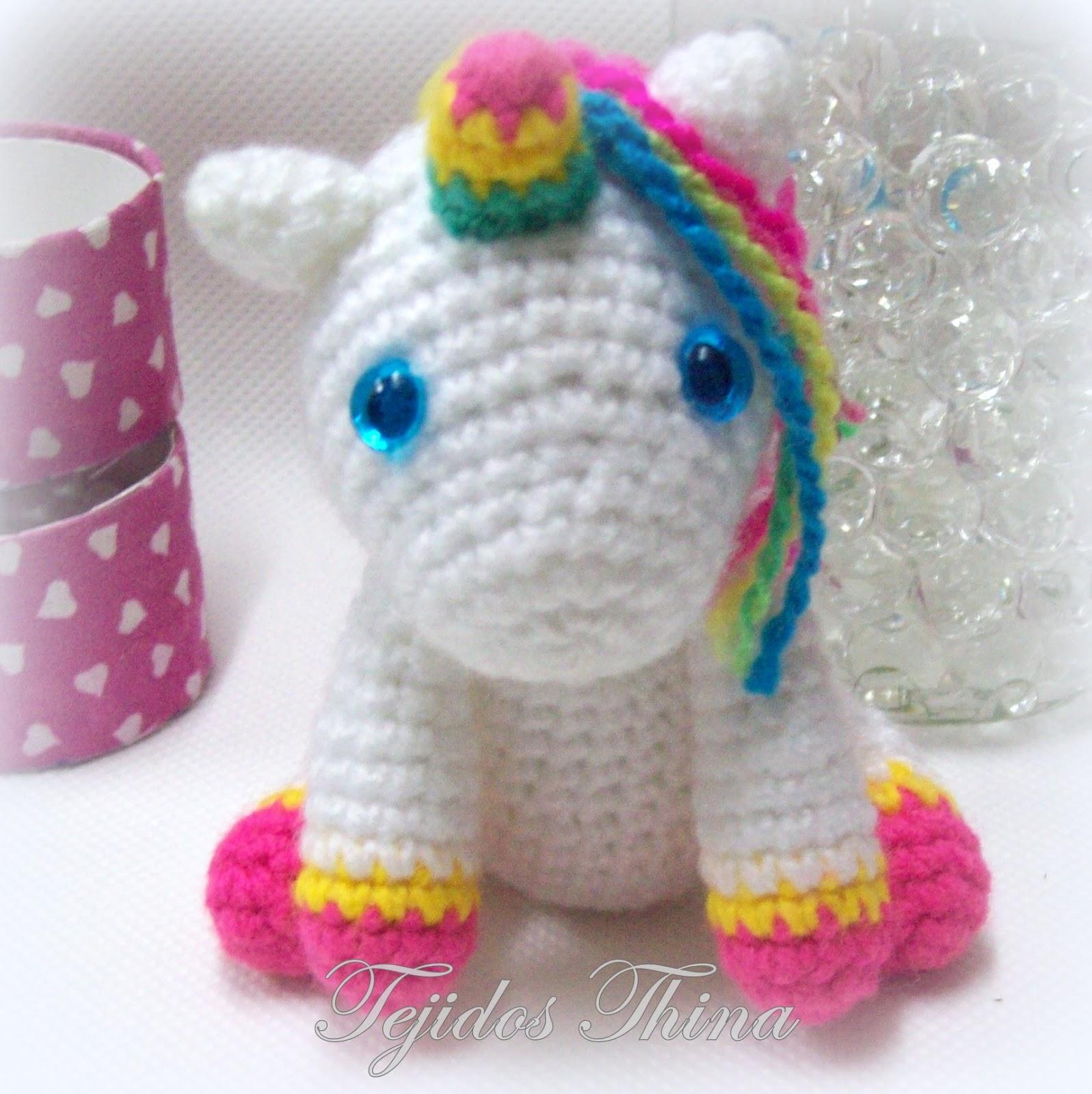 Unicornio 45 cm al crochet (técnica amigurumi) - YouTube | 1600x1597