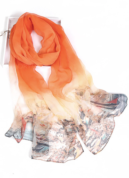 Casual Color Block Scarves