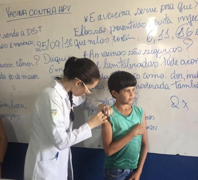 Secretaria de Saúde inicia campanha de imunização contra HPV nas escolas municipais