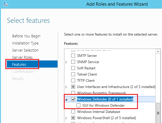 Server Manager y Windows Defernder en Windows Server 2015 Technical Preview