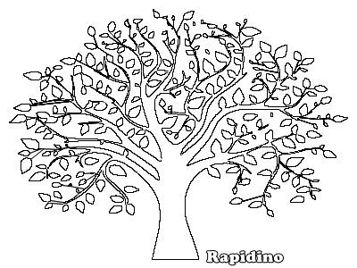 desenhos colorir Árvores