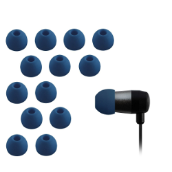 Xcessor High Quality Replacement Silicone Earbuds 7 Pairs (Set of 14 Pieces). Compatible With Most In Ear Headphone Brands. Size: SMALL. Semi-transparent