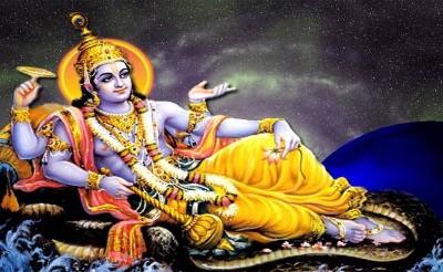 Hindu God image of narayana vishnu bhagwan
