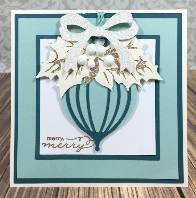 Cricut Merry Ornament card