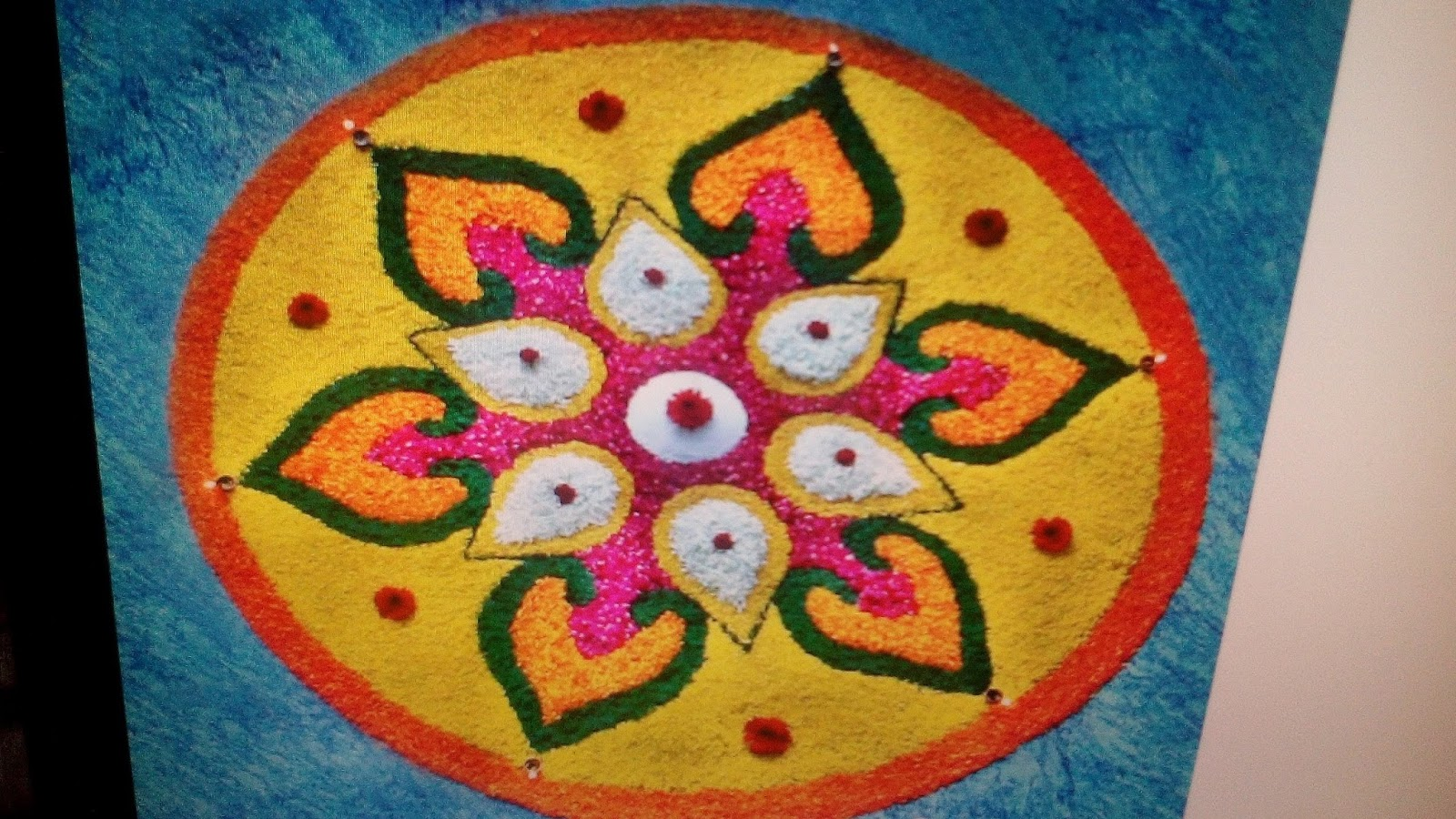 Rangoli Designs For Happy Holi