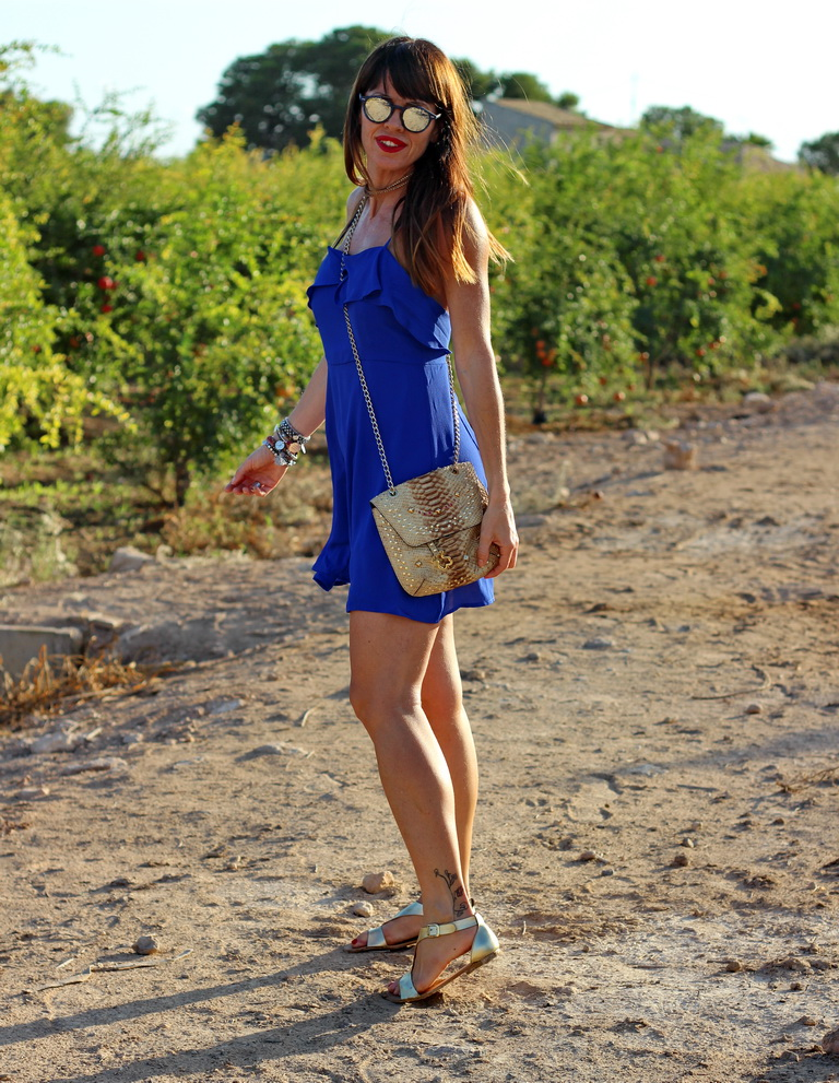 Zaful, tendencias 2016, Vestido azul, streetstyle, summer, fashion blogger