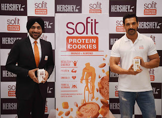 hershey india pvt ltd launched sofit protein cookies with brand ambassador john abraham