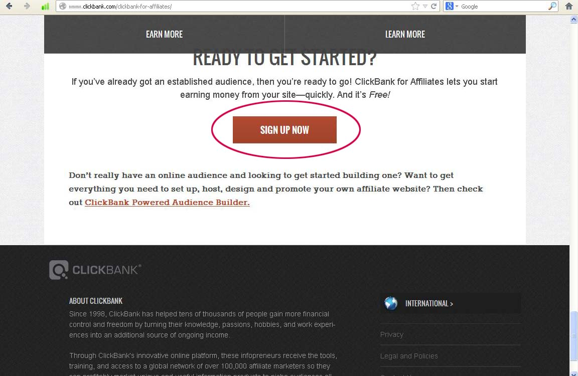 Clickbank affiliate signup