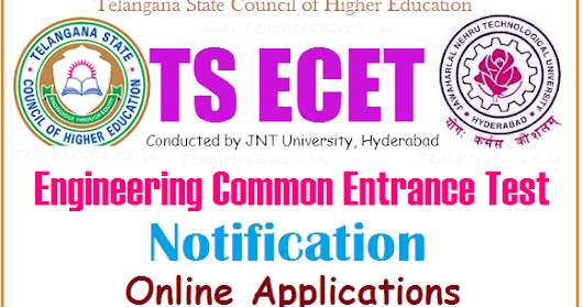TS ECET 2017 Notification|TS engineering common entrance test 2017 Exam dates, Eligibility, Apply online @ tsecet.in