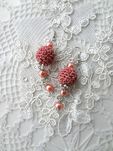 Crochet Bead Earrings – Xmas Gifts Making