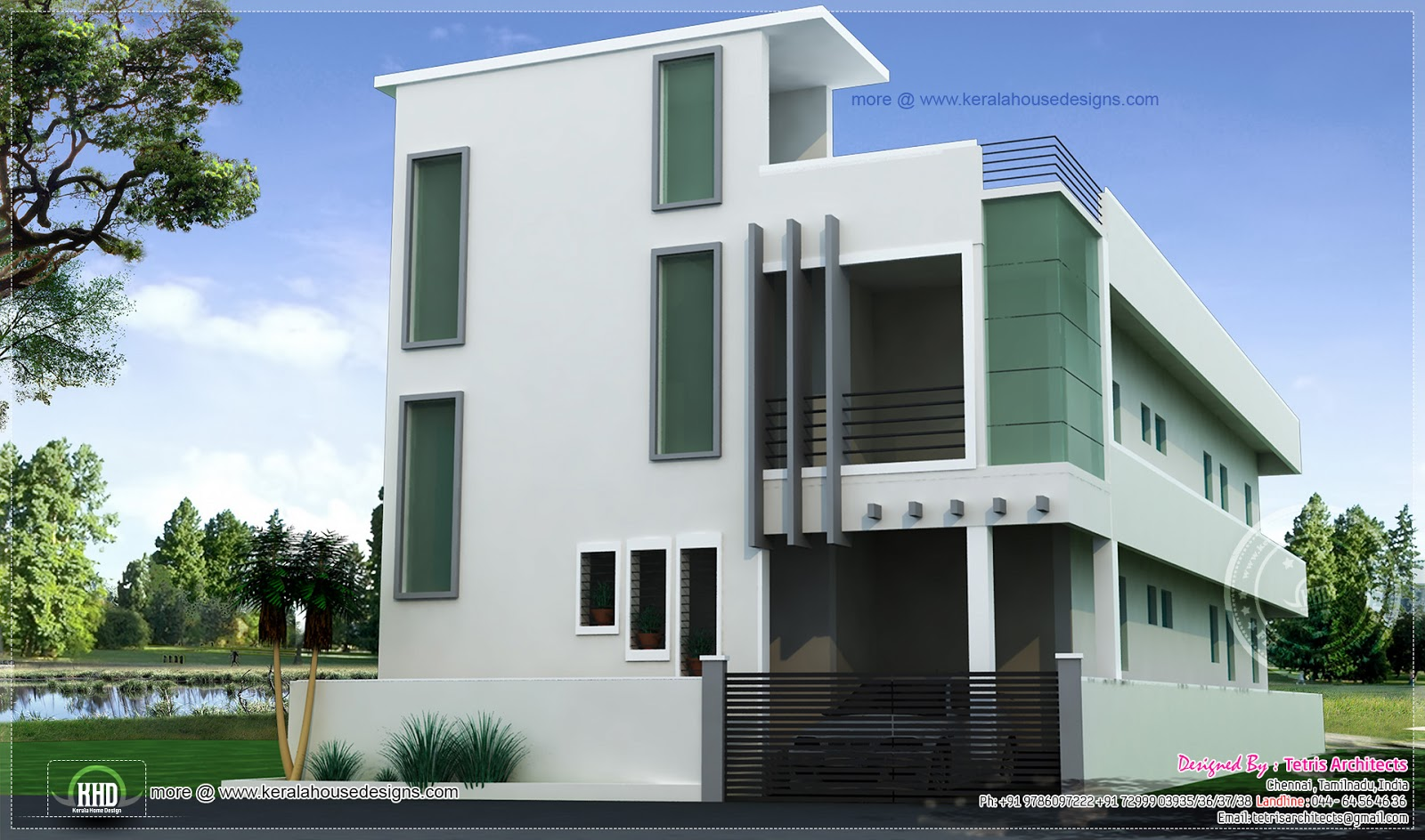 Top Floor Elevation : G residential structure at kanchipuram tamilnadu