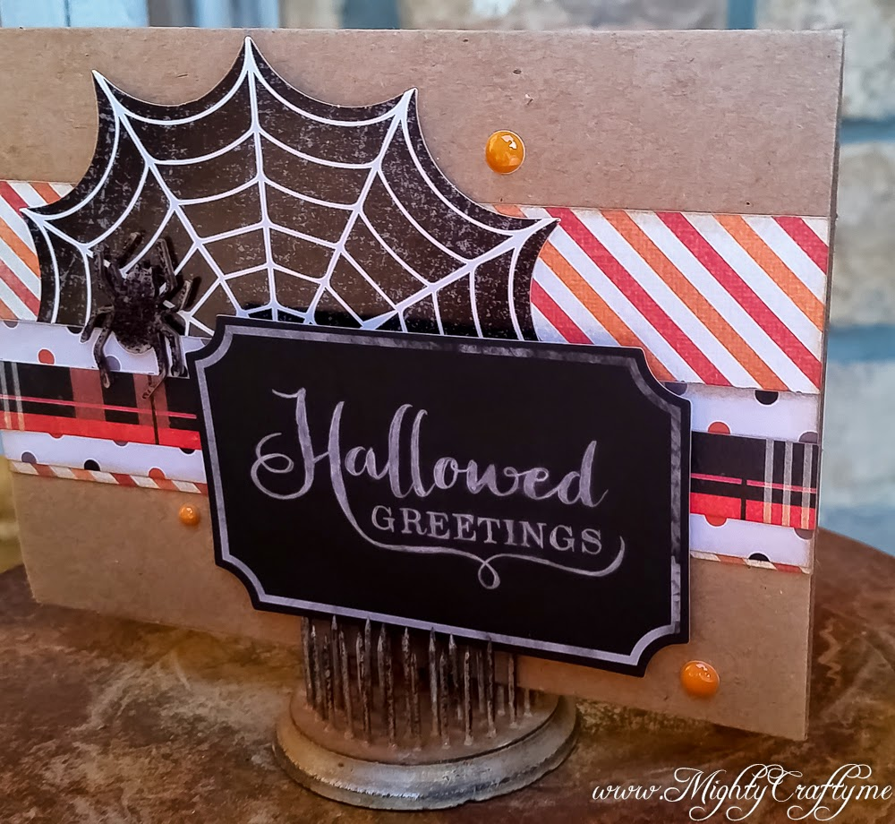 Halloween Greetings card by Lissa -- www.MightyCrafty.me