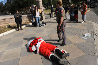 Santa busted
