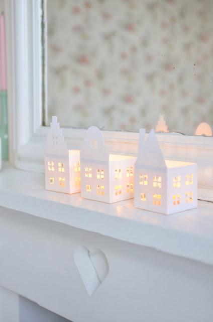 Casa decorativa para velas