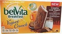 Belvita breakfast biscuit cocoa yogurt